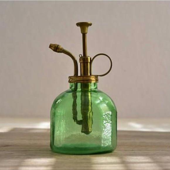 Vintage Green Glass Plant Mister Atomizer